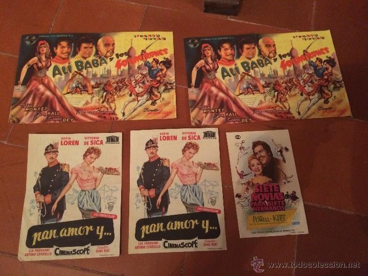 ANTIGUOS 5 CARTELES DE CINE DE LOS AÑOS 50 SOFIA LOREN Y VARIOS ARTISTAS MAS (Coleccionismo - Carteles Gran Formato - Carteles Ferias, Fiestas y Festejos)