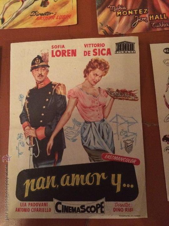 Carteles Feria: Antiguos 5 carteles de cine de los años 50 Sofia Loren y varios artistas mas - Foto 3 - 50363001
