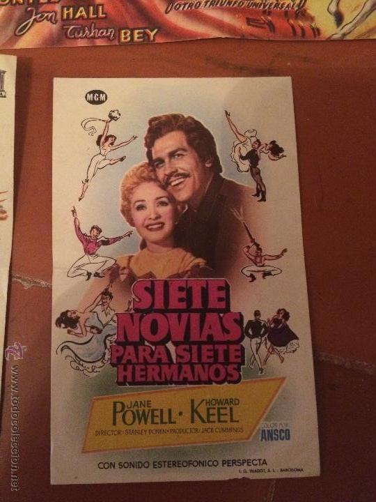 Carteles Feria: Antiguos 5 carteles de cine de los años 50 Sofia Loren y varios artistas mas - Foto 4 - 50363001
