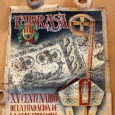 Carteles Feria: CARTEL ORIGINAL DEL ARTISTA FONTCASALS. AÑO 1950. TARRASSA. Lote 50418210