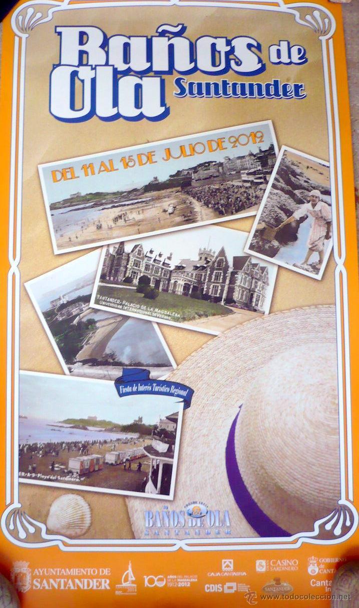 Cartel de ba os de ola santander julio 2012 comprar carteles antiguos ferias fiestas y - Cartel bano ...