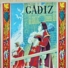Carteles Feria: CARTEL CÁDIZ FIESTAS DEL CORPUS CHRISTI 1958 DIBUJO CACHIRULO NUEVO SIN DOBLAR. Lote 51224050