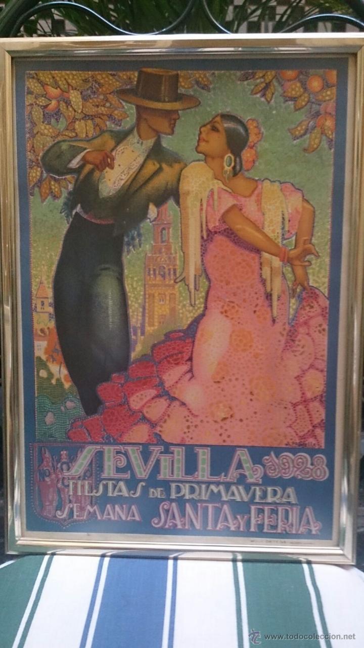 CARTEL FIESTAS DE PRIMAVERA SEVILLA 1928 ORIGINAL (Coleccionismo - Carteles Gran Formato - Carteles Ferias, Fiestas y Festejos)