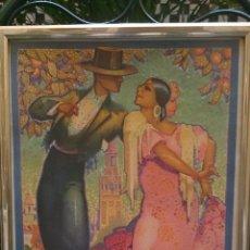Carteles Feria: CARTEL FIESTAS DE PRIMAVERA SEVILLA 1928 ORIGINAL. Lote 51809332