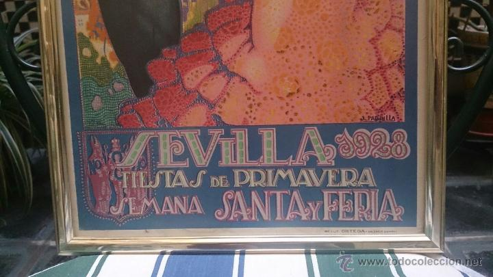 Carteles Feria: CARTEL FIESTAS DE PRIMAVERA SEVILLA 1928 ORIGINAL - Foto 2 - 51809332