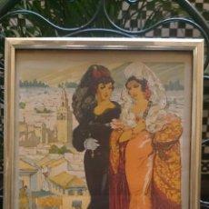 Carteles Feria: CARTEL FIESTAS DE PRIMAVERA SEVILLA 1941 ORIGINAL. Lote 51810102