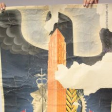 Carteles Feria: CARTEL FERIA NACIONAL DE MUESTRAS ZARAGOZA, 1941. Lote 51811839