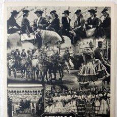 Carteles Feria: CARTEL FERIAS Y FIESTAS, SEVILLA , FIESTA PRIMAVERA 1950 , CARTULINA , ORIGINAL , A. Lote 52716381