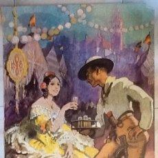 Carteles Feria: EL CARTEL EN SEVILLA 1982. ENVIO CERTIFICADO INCLUIDO EN EL PRECIO.. Lote 52840378