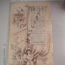 Carteles Feria: C A R N A V A L DEL 1898 - DEL CIRCULO EGARENSE - TARRASA - INVITACION PROGRAMA -. Lote 53174304