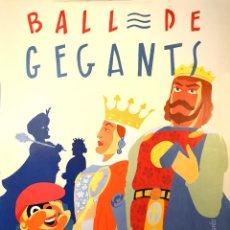 Carteles Feria: CARTEL BALL DE GEGANTS MERCE 89. 1989. GALLARDO. 97X69. BARCELONA. Lote 53200524