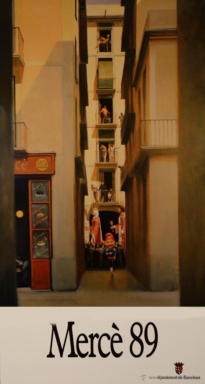 CARTEL MERCE 89. 1989. 98X52 CM. BARCELONA (Coleccionismo - Carteles Gran Formato - Carteles Ferias, Fiestas y Festejos)