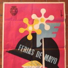 Carteles Feria: CARTEL PUBLICIDAD POSTER FERIAS MAYO FIRES DELS ENAMORATS VILAFRANCA DEL PENEDES BARCELONA 1965 DECO. Lote 53254310