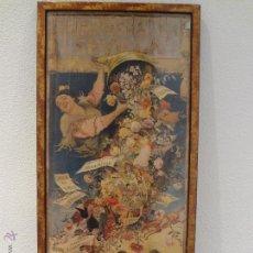 Carteles Feria: CARTEL FERIA DE SEVILLA 1903 ENMARCADO Y CON CRISTAL - VER FOTOGRAFIAS. Lote 72859525
