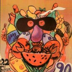 Carteles Feria: CARTEL CARNESTOLTES MERCAT DE LA LLIBERTAT. 49X33 CM. 1990. BARCELONA. Lote 53367640