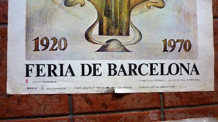 Carteles Feria: gran Cartel feria de Barcelona 1920 - 1970 grafista pomar motivo mujer modernista 100 /72 cm - Foto 2 - 53378212