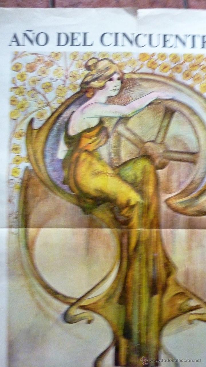 Carteles Feria: gran Cartel feria de Barcelona 1920 - 1970 grafista pomar motivo mujer modernista 100 /72 cm - Foto 3 - 53378212