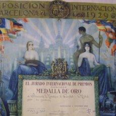 Carteles Feria: CARTEL EXPOSICION INTERNACIONAL BARCELONA 1929. Lote 53434442
