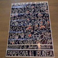 Carteles Feria: CARTEL FIESTAS DE SAN FERMIN 1990 DE MIKEL URMENETA. Lote 53778524