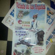 Carteles Feria: 1998 GRAN CARTEL ORIGINAL VELADA DE LOS ANGELES CADIZ AYUNTAMIENTO. Lote 54365818