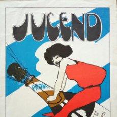 Carteles Feria: EXCELENTE CARTEL ART NOUVEAU , JUCEND 1897, MEDIDAS 49 X 38 CM. Lote 54824999