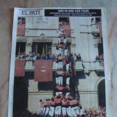 Carteles Feria: INTERESANTE CARTEL TRES DE NOU AMB FOLRE COLLA VELLA XIQUETS DE VALL 1988. Lote 55156944