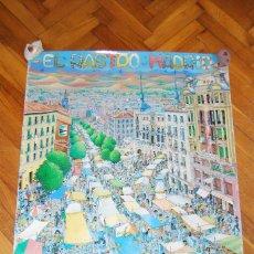 Carteles Feria: EL RASTRO DE MADRID - CARTEL CÓMIC - DISEÑADO E ILUSTRADO POR JOHN LODI. Lote 56497296