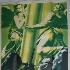 Carteles Feria: MAGNIFICO CARTEL DE LA PEREGRINACION AL PILAR DE ZARAGOZA EN 1940 ILUSTRADOR GUILLERMO. Lote 56524749