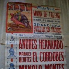 Carteles Feria: CARTEL TOROS MORA DE TOLEDO . Lote 57029071