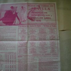 Carteles Feria: CARTEL TOROS SEVILLA 1978. Lote 57029309