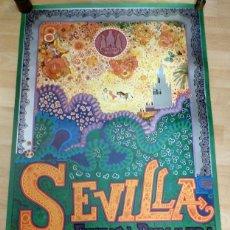 Carteles Feria: ORIGINAL CARTEL DE FIESTAS DE PRIMAVERA DE SEVILLA DEL AÑO 1981, 63X93 CMS. Lote 131988293