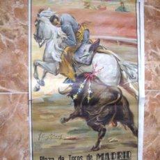 Carteles Feria: CARTEL DE TOROS MADRID 1966. Lote 57201499