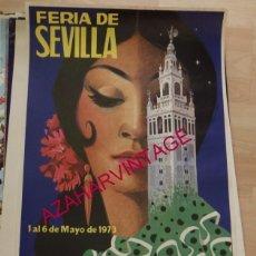 Carteles Feria: CARTEL FERIA DE SEVILLA 1973,100% ORIGINAL, 46X70 CMS. Lote 95654744