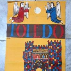 Carteles Feria: MAGNIFICO CARTEL DEL CORPUS CHRISTI DE TOLEDO AÑO 1962 - MEDIDA 1 METRO X 63CM. Lote 57470325