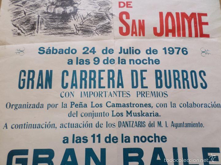 Carteles Feria: CARTEL GRAN VERBENA DEL BARRIO DE SAN JAIME TUDELA NAVARRA - Foto 5 - 57582627