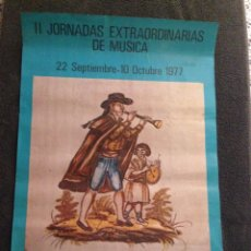 Carteles Feria: CARTEL II JORNADAS EXTRAORDINARIAS DE MUSICA LLIRIA (VALENCIA). Lote 57680030