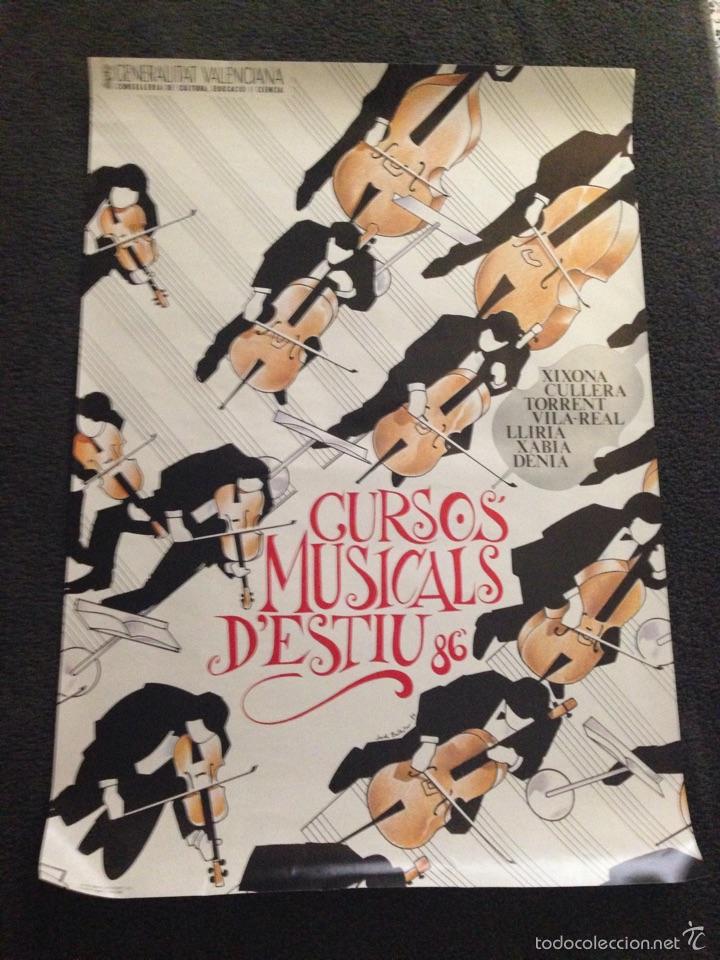 Carteles Feria: Cartel Cursos Musicals D'estiu 86. - Foto 2 - 57680153