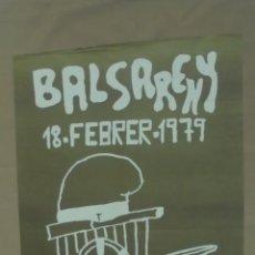 Carteles Feria: CARTEL. BALSARENY. 1979. FESTA DELS TRAGINERS.. Lote 58207216