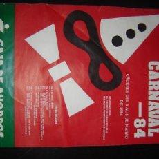 Carteles Feria: CARTEL CARNAVAL . AYUNTAMIENTO DE CÁCERES. 1984.. Lote 32851113