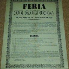 Carteles Feria: LITOGAFRIAS DE 17 CARTELES DE FERIA ANTIGUOS DE CORDOBA- ESTAN TODAS LAS FOTOS Y TAMAÑO- VER DESCRIP. Lote 58281221