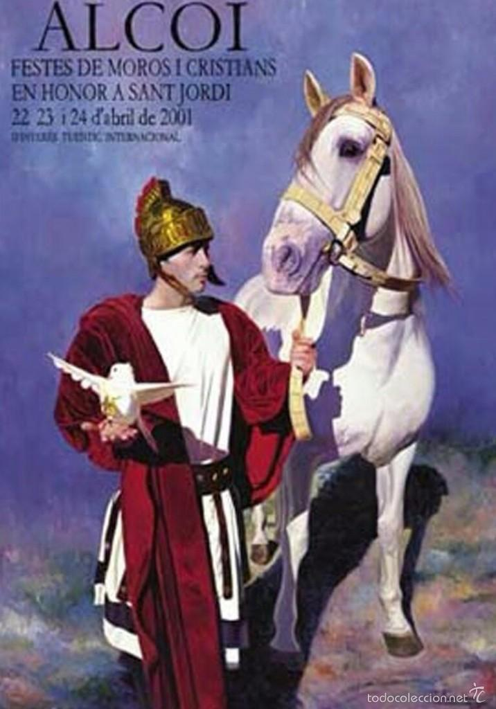 CARTEL Y POSTAL MOROS Y CRISTIANOS 2001 ALCOY (Coleccionismo - Carteles Gran Formato - Carteles Ferias, Fiestas y Festejos)