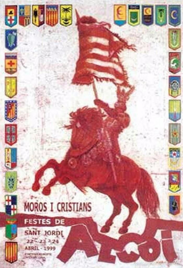 CARTEL, POSTAL Y PEGATINA MOROS Y CRISTIANOS 1999 ALCOY (Coleccionismo - Carteles Gran Formato - Carteles Ferias, Fiestas y Festejos)