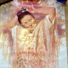 Carteles Feria: SEVILLA, 1998, CARTEL DE LA VELA DE SANTA ANA, TRIANA, 47X68 CMS. Lote 123201820