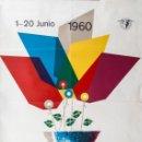 Carteles Feria: 1960. XXVIII FERIA DE MUESTRAS ES BARCELONA. Lote 62210356