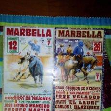 Carteles Feria: PLAZA TOROS MARBELLA, LOTE 2 CARTELES CORRIDA DE REJONES 2016. Lote 62904304