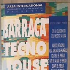 Carteles Feria: POSTER CARTEL ORIGINAL DE LA DISCOTECA BARRACA VALENCIA RUTA DEL BAKALAO DESTROY BACALAO. Lote 63583672