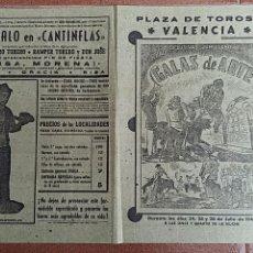 Carteles Feria: CARTEL DE FESTEJOS TAURINOS. GALAS DE ARTE, BOMBERO TORERO.P PLAZA DE TOROS DE VALENCIA FERIA 1948. Lote 63731259