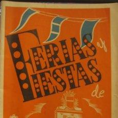 Carteles Feria: PROGRAMA FERIAS FIESTAS DE SANTA ÚRSULA CIUDAD DE VALLS (TARRAGONA) 1946. Lote 67429033