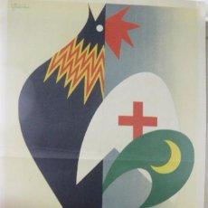 Cartazes Feira: CARTEL ANUNCIADOR FIESTAS DE SAN JORGE. ALCOY 1962 ORIGINAL ÉPOCA. Lote 69118741