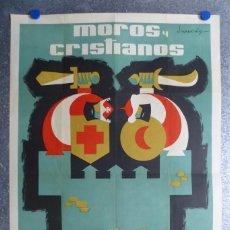 Carteles Feria: VILLENA (ALICANTE) - MOROS Y CRISTIANOS EN HONOR A NTRA SRA. MARIA DE LAS VIRTUDES - SEPTIEMBRE 1961. Lote 72228959